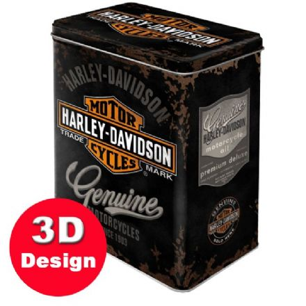 Harley Davidson - Embossed Storage Tin